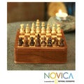 Handcrafted Sheesham and Kadam Wood 'Let's Go' Chess Set (India)