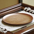 Handcrafted Mahogany Wood 'Maya Sun God' Tray (Guatemala)