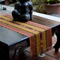 Handcrafted Cotton 'Maya Sunset' Table Runner (Guatemala)