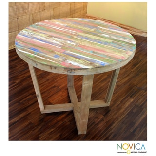 Reclaimed Teakwood 'Kintamani Rainbow' Table Large (Indonesia)