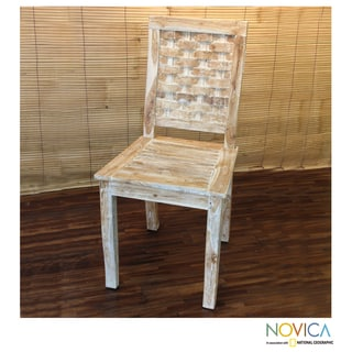 Handcrafted Teakwood 'South Sea Memory' Chair (Indonesia)