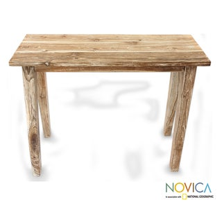 Handcrafted Teak Wood 'Plantation' Accent Table (Indonesia)