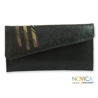 Handcrafted Leather 'Dreamer' Medium Clutch Bag (Guatemala)
