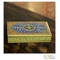 Kail Wood and Paper-mache 'Star of India' Jewelry Box (India)
