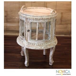 Teakwood And Glass 39 Vintage Crystal Cage 39 Curio Table Indonesia
