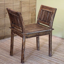 Handcrafted Teakwood 'Dynasty' Chair (Indonesia)