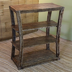 Handcrafted Teakwood 'Balinese Hourglass' Bookshelf (Indonesia)