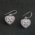 Sterling Silver 'Loyal Hearts' Earrings (Indonesia)