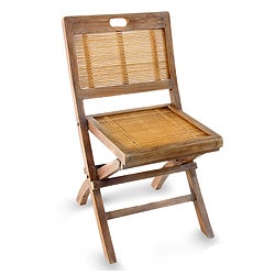 Teakwood and Bamboo 'Vintage Ambarawa' Folding Chair (Indonesia)
