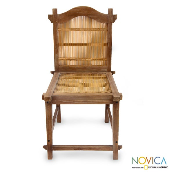 Teakwood and Bamboo 'Vintage Ambarawa' Dining Chair (Indonesia)