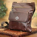 Leather 'Arequipa Traveler' Medium Messenger Bag (Peru)