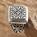 Sterling Silver Ring 'Garden of the Cross' Ring (Indonesia)