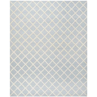 Safavieh Handmade Cambridge Moroccan Traditional Light Blue Wool Rug (8' x 10')