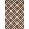 Safavieh Handmade Moroccan Cambridge Dark Brown Wool Rug (4' x 6')