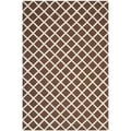 Safavieh Handmade Cambridge Moroccan Dark Brown Wool Area Rug (8' x 10')