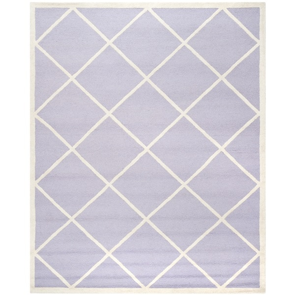 Safavieh Handmade Cambridge Moroccan Lavender Diamond-Patterned Wool Rug (8' x 10')