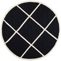 Safavieh Handmade Cambridge Moroccan Black Wool Diamond Pattern Rug