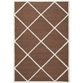 Safavieh Handmade Cambridge Moroccan Dark Brown Diamond Pattern Wool Rug (4' x 6')