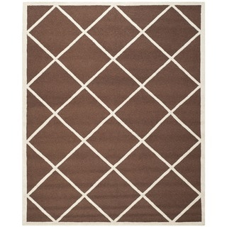 Safavieh Handmade Cambridge Moroccan Dark Brown Tufted Wool Rug (8' x 10')