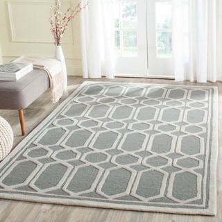 Safavieh Handmade Moroccan Cambridge Geometric-pattern Silver Wool Rug (8' x 10')