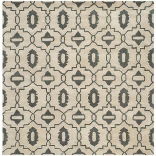 Safavieh Handmade Moroccan Chatham Beige Wool Rug (7' Square)