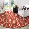 Safavieh Handmade Moroccan Chatham Orange Wool Rug (7' Round)