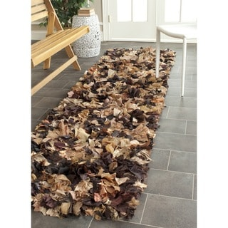 Safavieh Hand-woven Chic Brown Shag Rug (2'3 x 9')