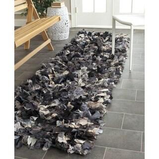 Safavieh Hand-woven Chic Grey Shag Rug (2'3 x 11')