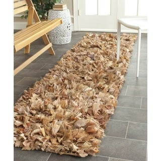 Safavieh Hand-woven Chic Natural Shag Rug (2'3 x 11')