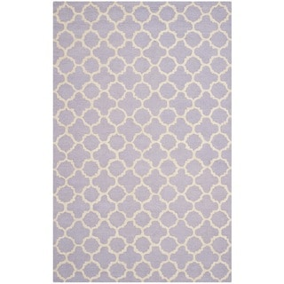 Safavieh Handmade Cambridge Moroccan Traditional Lavender Wool Rug (9' x 12')