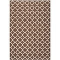 Safavieh Handmade Cambridge Moroccan Dark Brown Geometric Pattern Wool Rug (4' x 6')