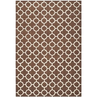 Safavieh Handmade Cambridge Moroccan Dark Brown Pure Wool Rug (9' x 12')