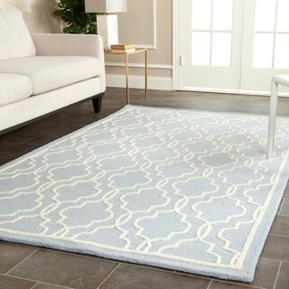 Safavieh Traditional Handmade Moroccan Cambridge Light Blue Wool Rug (5' x 8')
