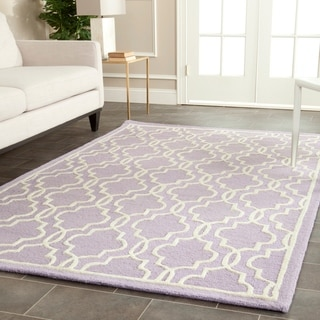 Safavieh Handmade Moroccan Cambridge Lavender Indoor Wool Rug (4' x 6')
