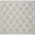 Safavieh Handmade Moroccan Cambridge Silver Wool Rug (6' Square)