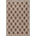 Safavieh Handmade Cambridge Moroccan Contemporary Dark Brown Wool Rug (4' x 6')