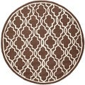 Safavieh Handmade Cambridge Moroccan Dark Brown Tufted Wool Rug (6' Round)
