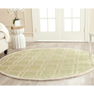 Safavieh Handmade Cambridge Moroccan Light Green Wool Rug with Half-Inch Pile (6' Round)
