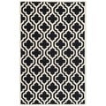 Safavieh Handmade Cambridge Moroccan Contemporary Black Wool Rug (4' x 6')