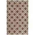 Safavieh Handmade Cambridge Moroccan Dark Brown/Ivory Wool Rug (5' x 8')