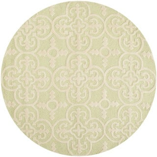 Safavieh Handmade Cambridge Moroccan Light Green Wool Rug with High/Low Construction (6' Round)