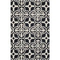 Safavieh Handmade Cambridge Moroccan Traditional-Cross Pattern Black Wool Rug (4' x 6')
