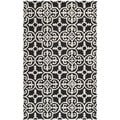 Safavieh Handmade Cambridge Moroccan Geometric Black Wool Rug (5' x 8')