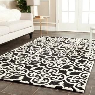 Safavieh Handmade Cambridge Moroccan Geometric Black Wool Rug (5' x 8')