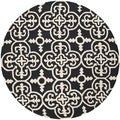Safavieh Handmade Cambridge Moroccan Black Wool Cross Pattern Rug