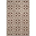 Safavieh Handmade Cambridge Moroccan Dark Brown Pure Wool Rug (4' x 6')