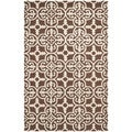Traditional Safavieh Handmade Cambridge Moroccan Dark Brown Wool Rug (5' x 8')