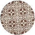 Modern Safavieh Handmade Cambridge Moroccan Dark Brown Wool Rug (6' Round)