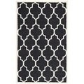 Safavieh Handmade Cambridge Moroccan Black Oriental Wool Rug (5' x 8')