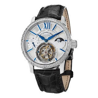 Stuhrling Original Men's Diamond Imperium Mechanical Tourbillon Sapphire Crystal Watch
